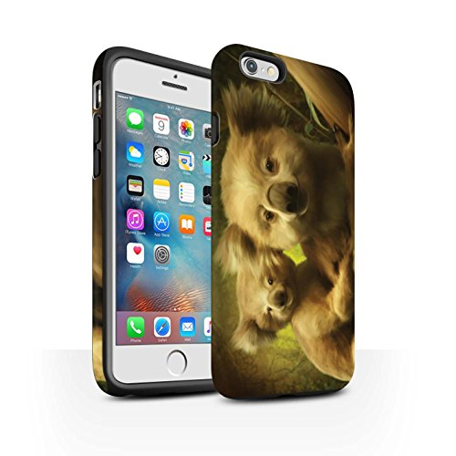 Officiel Elena Dudina Coque / Matte Robuste Antichoc Etui pour Apple iPhone 6+/Plus 5.5 / Félins/Léopard/Guerrier Design / Les Animaux Collection Koalas/Escalade d'Arbres