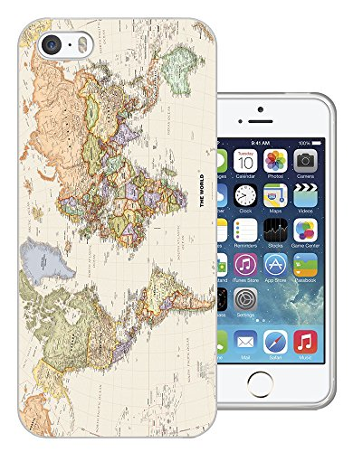 5c Iphone-hülle World Map (178 - Cool Fun World Map The World Look Design iphone 6 6S 4.7'' Fashion Trend Silikon Hülle Schutzhülle Schutzcase Gel Rubber Silicone Hülle)