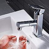 Wasserhahn ziehen Wasserhahn heißes und kaltes Waschbecken Waschbecken Waschbecken einzelne Loch...