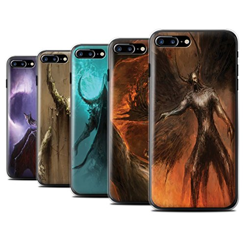Offiziell Chris Cold Hülle / Case für Apple iPhone 7 Plus / Zeriel das Licht Muster / Dunkle Kunst Dämon Kollektion Pack 10pcs