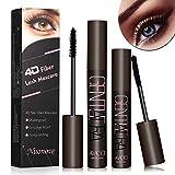 4D Silk Fiber Eyelash Mascara, Mascara Waterproof, Mascara Ciglia Extra Volume, 4D Mascara, 4D Fiber Black Lash Mascara, più lunga, più spessa, Nera