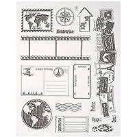 Starnearby - Sello transparente de silicona para manualidades con sellos de scrapbooking tarjeta 21