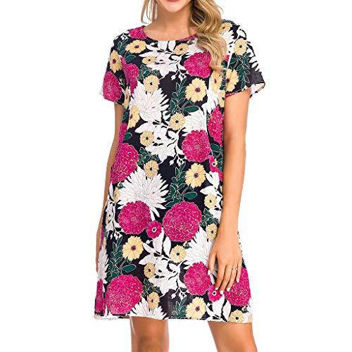 HannahY Damen Kleid Retro 1920er Stil Flapper Kleider mit Zwei Schichten Troddel V Ausschnitt Great Motto Party Kleider Damen Kostüm Kleid (Rot, M) (Weibliche Ringer Kostüm)