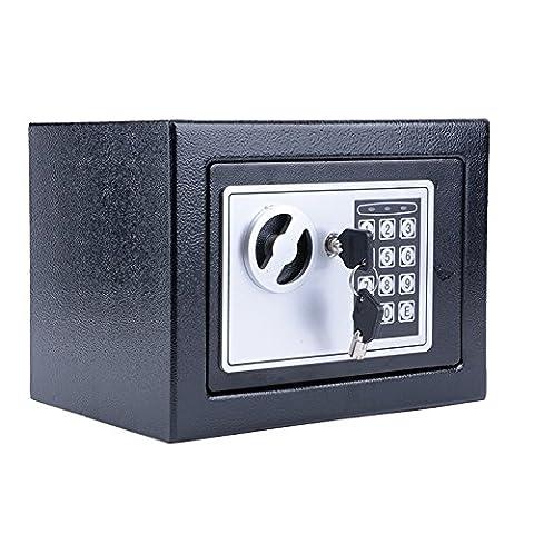 Homdox Coffre-fort de sécurité électronique 23×17×17 cm, Noir