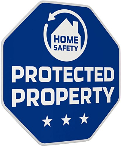 "iiquu Home Safety - 5x Sicherheits-Aufkleber""Protected Property"", 510ILSAA006"