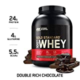Optimum Nutrition 100% Whey Gold Standard, Double Rich Chocolate, 5lbs