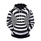 WEII Mode 3D Striped Print Kapuzenpullover Mode Herbst und Winter Herren Jacke Sport und Freizeit Pullover -