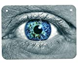 Dozili Metallschild, Augenbrauenauge, Optometrier, Optometrist Vision, Optisch, gruselig, Cool Man Cave Garage Wanddekoration