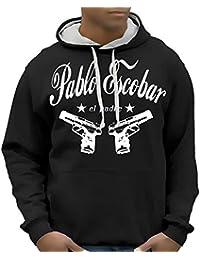 PABLO ESCOBAR - el padre Hoodie Sweatshirt der Pate Mafia - div. Farben Gr.S M L XL