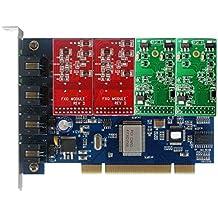 Carte FXO / FXS TDM400P,avec 2 FXO + 2 FXS ,VOIP PCI Carte Asterisk,Elastix,FreePbx