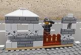 Modbrix 50333 - ✠ Wehrmacht Bunker inkl. Custom Minifigur Wehrmacht Soldat und umfangreiche Bewaffnung ✠