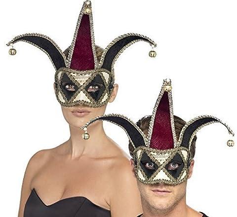 Damen Herren Gothik Harlekin Halbschuhe Mittelalterlich Hof Hofnarr Halloween Maskenball Kostüm Maske