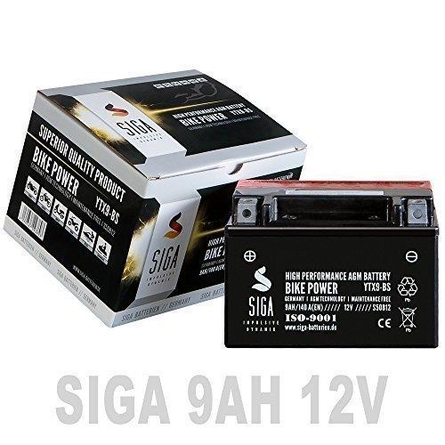 Preisvergleich Produktbild Motorrad Batterie 9Ah - YTX9-BS AGM GEL CTX9-BS GTX9-BS 50812 SIGA 12V