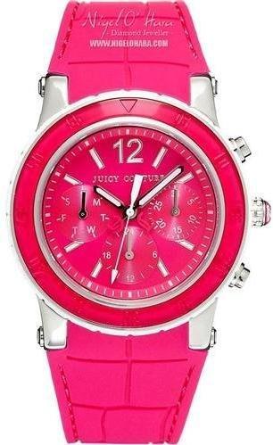 Juicy Couture Jui-8330 - Reloj de pulsera mujer, piel, color rosa