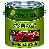 Grünwalder Premium 2 Komponenten Autolack glänzender Landmaschinenlack, hochdeckender und schlagfester Lack mit Passendem Härter Set - Nur Zwei dünne Anstriche! (RAL 7016 Anthrazitgrau, 2,5 kg)