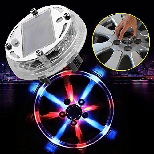 Sedeta® 4 modalità 12 LED Lampada a luce solare a energia solare Lampeggiante decorativo Illuminazione a LED per pneumatici colorati Luci del tappo della valvola pneumatica delle ruote delle ruote
