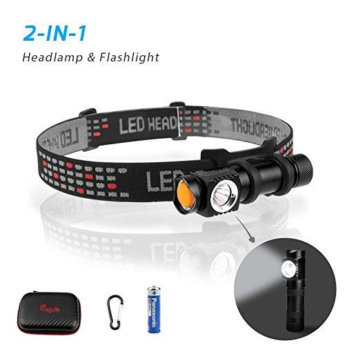 Energizer Lithium Led (megulla LED Scheinwerfer Taschenlampe mit Schutzhülle für Laufen, Wandern, Camping und Kinder–(100Lumen, Cree XPE2, Full Metal Körper, Magnet Basis). Leicht und IPX4wasserabweisend mit einer AA Batterie-1PACK)
