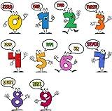 Des numéros autocollants de mur mignons colorés et éducatfs - Ensemble de chiffres de 1 à 10 - des décalcomanies amusantes en vinyle pour mur de chambre d'enfants - un outil d'apprentissage attrayant pour des parents créatifs