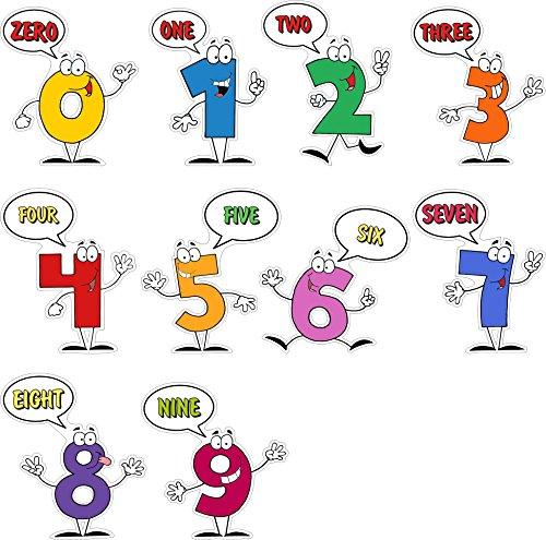 Süße und bunte Wandaufkleber zum Lernen mit Zahlen - Eine Reihe von Ziffern von 0 bis 9 - Spaßiger Aufkleberbogen für die Kinderzimmerwand - Attraktives Lernwerkzeug für kreative Eltern (Buchstaben Wand-dekor Metall Y,)