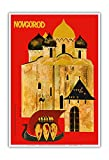 Pacifica Island Art Novgorod, Russland - Ein Juwel der Alt-russischen Architektur - Vintage Retro Welt Reise Plakat c.1960s - Kunstdruck - 33cm x 48cm