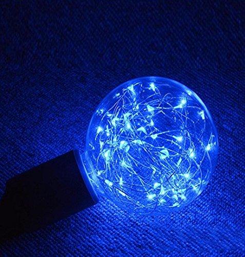 r Lichterkette Weihnachten LED Glühbirne E27 Sternen Fee String Weihnachten Party Lampe Home Decor Garten Globe Außen Warmweiß (Blau) ()