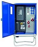 as - Schwabe Baustromverteiler SAVEV 2 CEE-Stromverteiler für Baustelle, Aussen und Outdoor, IP44, 16A, 32A, 63A, 1 Stück, blau, 61131