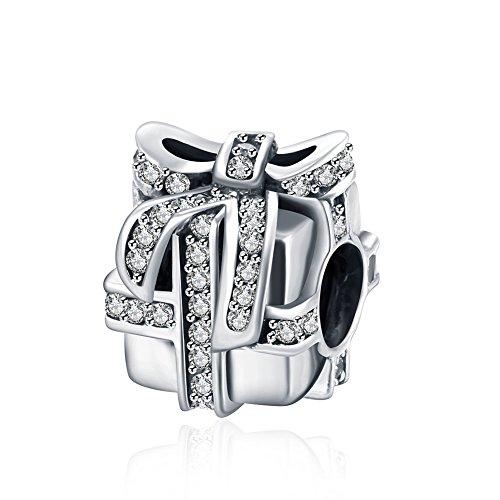 Meilleur achat nykkola Nouvelles projet Swarovski Element Cristal Forme Boîte Cadeau argent sterling 925 grain charme Compatible