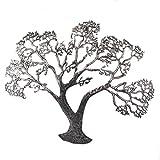 T&D Wanddeko aus Metall Metallbild Baum schwarz Silber antik 76 x 63 cm - Gilde Handwerk Wandrelief