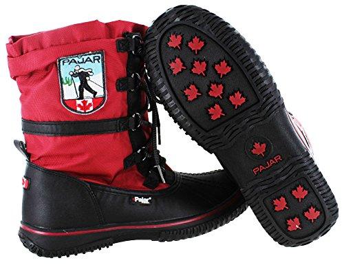 Pajar Grip Low, Boots femme Rouge/noir