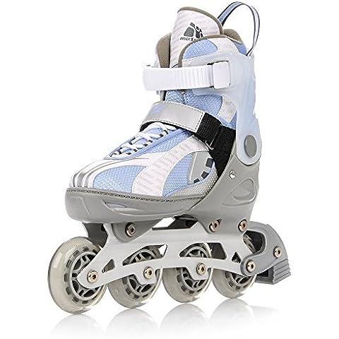 METEOR® BREEZE 2 in 1 Inline Skates / Schlittschuhe | Kinder | Damen | Herren | Größenverstellbar 33-36 / 37-40 / 40-43 | ABEC