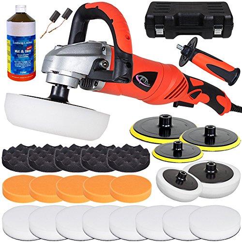 *TecTake® Poliermaschine 1400 Watt + großes Set 10 inkl. 1 Liter Schleifpaste zum Entfernen kleiner Kratzer*