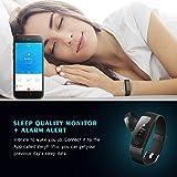 【Neue Version】Fitness Tracker, Mpow Bluetooth 4.0 Smart Fitness Armbänder mit Pulsmesser IP67 Wasserdicht Aktivitätstracker Schrittzähler 0.96''OLED Herzfrequenzmesser Pulsuhr für Android iOS wie iPhone 7/7 Plus/6S/6/5/5S, Samsung S8/S7, Huawei, LG, Sony, schwarz(USB Anschluss direkt laden) - 5