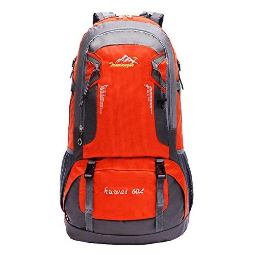 Imagen de deportiva bolsa  bolsos  impermeable 60l al aire libre de excursión de deporte montaña acampada ciclismo  naranja, 61 x 37 x 21 cm