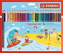 Matita colorata acquarellabile - STABILOaquacolor - Astuccio da 36 - Colori assortiti