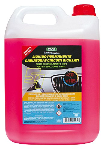 Cora 0051 liquido permanente radiatori e circuiti sigillati-20°c, rosso, 5l