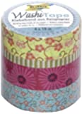 Folia 26405 Washi Tape Blumenregen, 4-er Set