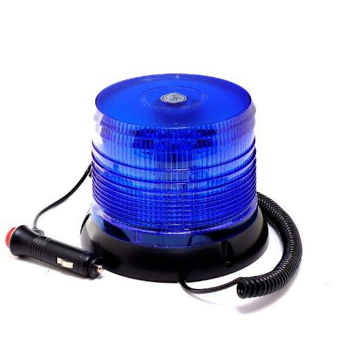 LED-MARTIN® Rundumleuchte 12V/24V- Blau - Magnetfuß - 3,5m Kabel - für Polizei, Feuerwehr, THW