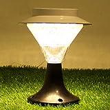 LED Solarleuchte Solarbetriebene Gartenleuchte Energie sparende Solarlampe Weiß Warmweiß Wasserdicht Außenleuchte IP65 Bodeneinbauleuchte für Outdoor Garten (Warmweiß)