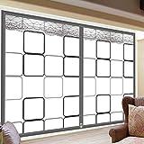 Kit de aislamiento de ventana Interior de invierno Película que se aferra de aisladores Ahorra energía Transparente Patio Sellado de la puerta película de climatización,(71x71inch)180x180cm