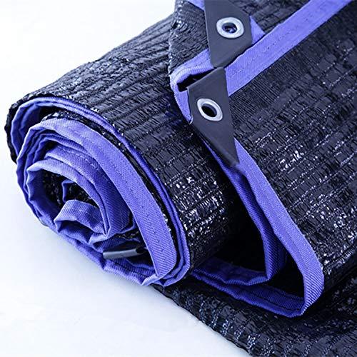 ANUO Sonnensegel 90% Shade Cloth Schwarz Premium Mesh Shade Panel Mit Ösen/Reversible Haltbarkeit Sunblock Block Fabric Pergola-Abdeckung (Color : Black, Size : 16.5x33ft/5x10m) Reversible Block