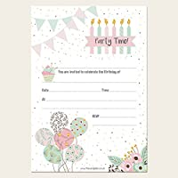 Pretty Pastel Party - Invitation Sheets & Envelopes - Pack of 20