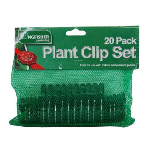 kingfisher-set-di-clip-per-piante-colore-verde-20-pezzi