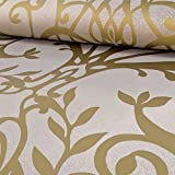 Exklusiv Holden Statement Blumen Damaskmuster Metallische Strukturtapete - Gold 50010