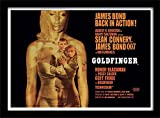 Pyramid International James Bond Goldfinger Filmplakat, gerahmt