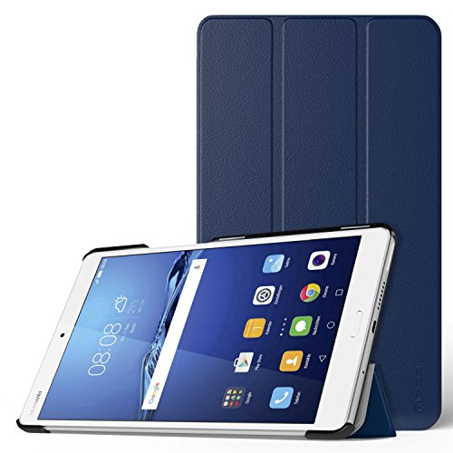 MoKo Huawei MediaPad M3 8.4 Hülle - Ultra Slim Lightweight Schutzhülle Smart Cover Standfunktion für Huawei MediaPad M3 8.4 2016 Tablet-PC ideal geeignet, Marineblau