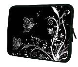 Luxburg® Laptop Sleeve EK10676 Schutzhülle, 43 cm (17 Zoll), Butterflies Artwork (b and W), Stück: 1