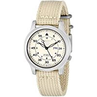 Seiko Analogue Beige Dial Men's Watch -Snk803