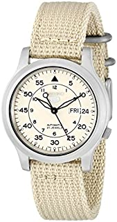 Seiko Men's SNK803K2 Beige Nylon Automatic Beige Dial Watch (B000G6R7B8) | Amazon price tracker / tracking, Amazon price history charts, Amazon price watches, Amazon price drop alerts