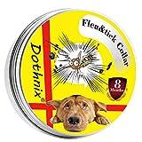 dothnix Collare Antipulci Cane,Antiparassitario Impermeabile Collare, 8 Mesi di Protezione per Piccolo Medio Grande Cani(55cm)