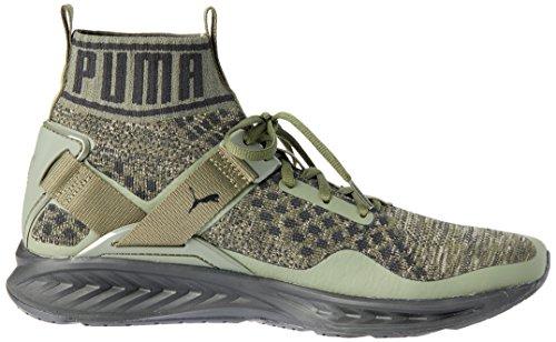 Puma Unisex-Erwachsene Ignite Evoknit Laufschuhe GREEN|KHAKI